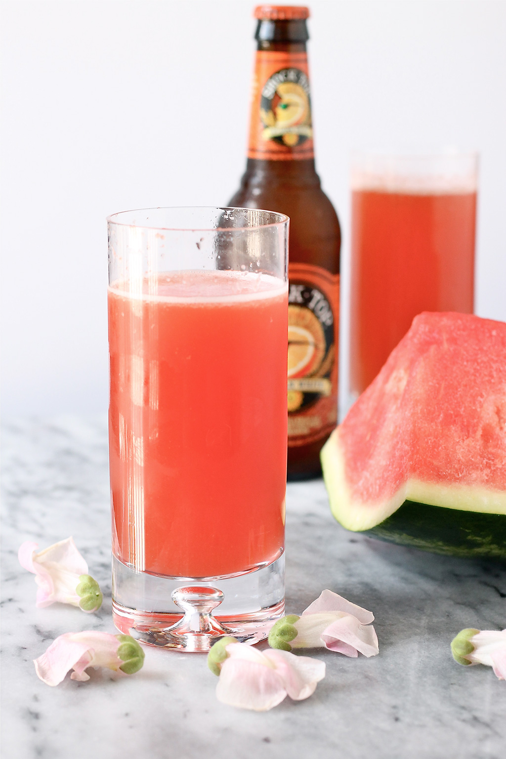Watermelon Lemonade Beer Cocktail